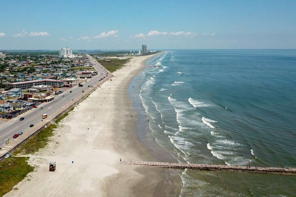 Beautiful blue water has rolled ashore onto Galveston Island, just in time for perfect beach weather.