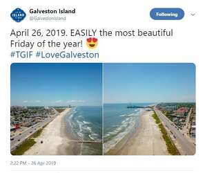 Blue water rolls into Galveston just in time for perfect beach