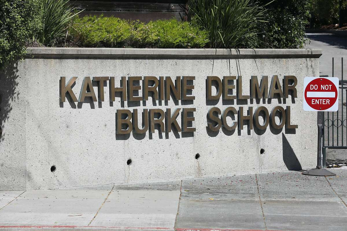 Front gated entrance of the Katherine Delmar Burke School seen on Friday, April 12, 2019 in San Francisco, Calif.