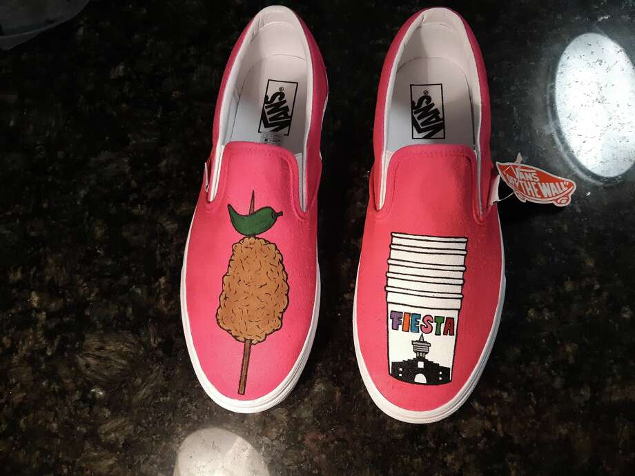 df597ded25c4 San Antonio artist creates shoe design honoring chicken on a stick ...