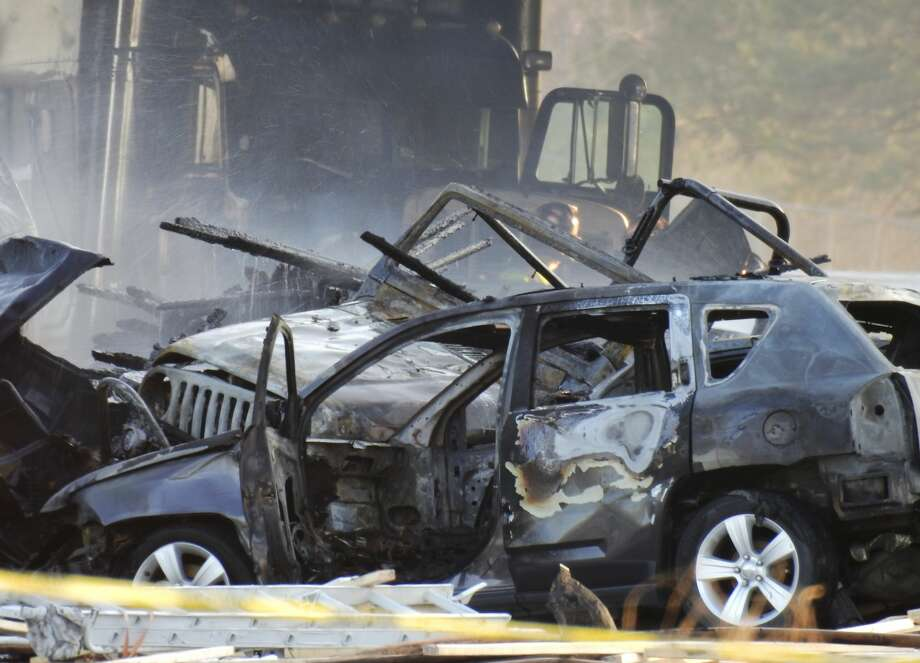 Four people died in a fiery crash on I-70 near Colorado Mills Parkway that shut down highway in both directions. April 25, 2019. (Photo by Hyoung Chang/MediaNews Group/The Denver Post via Getty Images) Photo: Hyoung Chang/MediaNews Group/The/Denver Post Via Getty Images