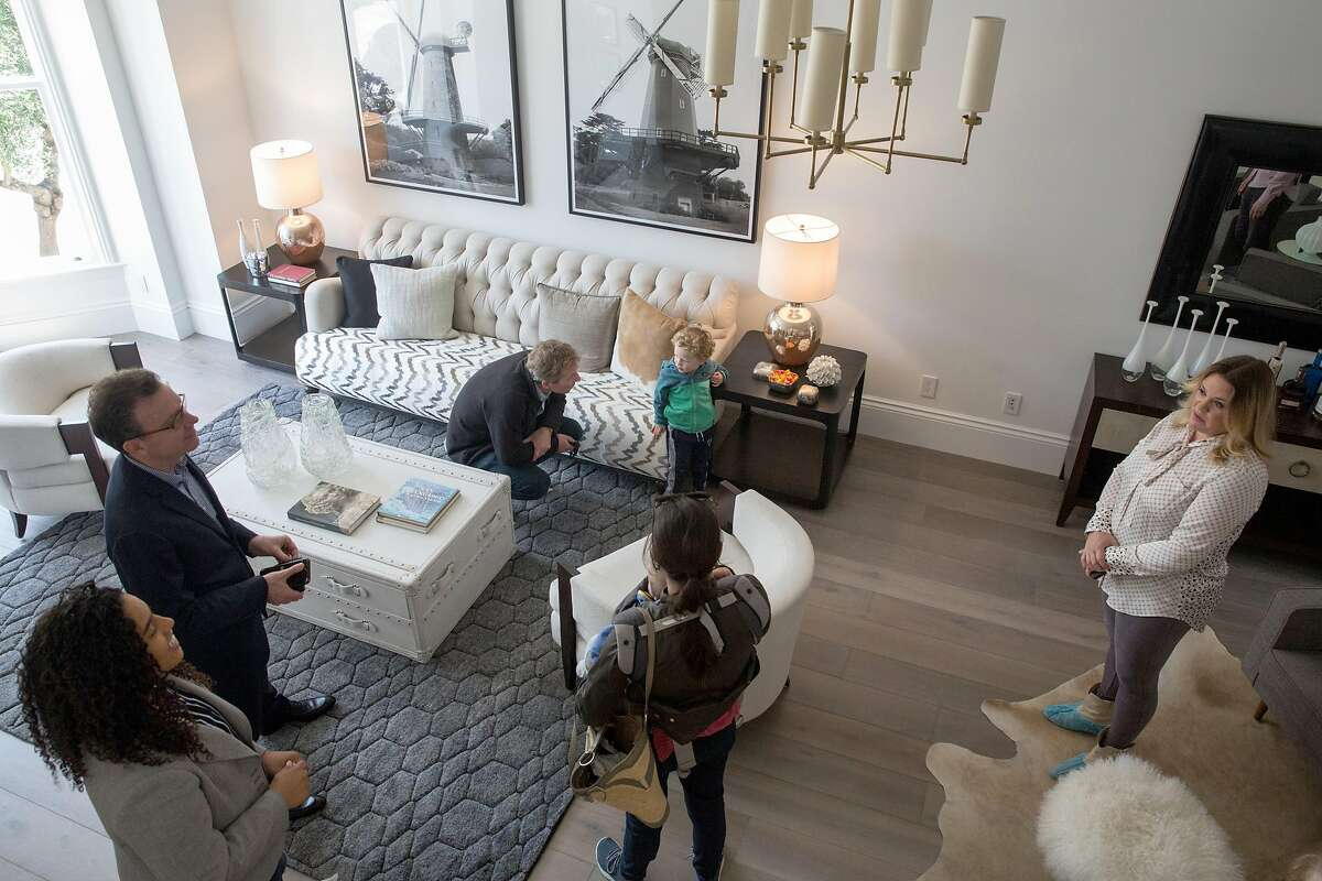 """Agents and potential buyers visit the house that was featured on the 1980 t.v. show """"Full House"""" which is officially hitting the market next week. On Friday, April 26, 2019. San Francisco, Calif."""