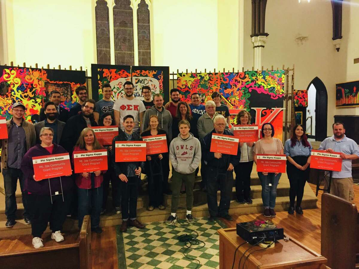Phi Sigma Kappa fraternity at Rensselaer Polytechnic Institutepresented $11,000 in grants to support the Mt. Ida community at a ceremony held Wedesday April 24, 2019 at 320 Congress St., Troy, NY
