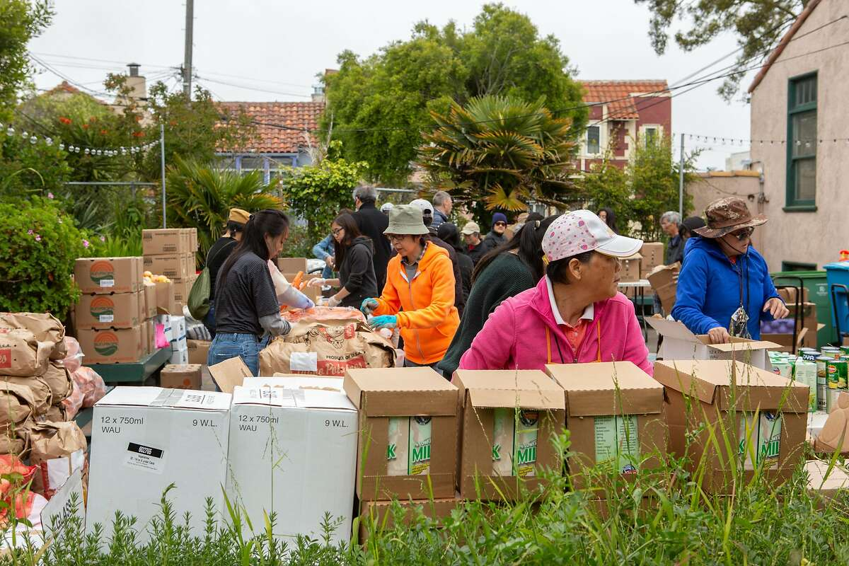 The SF-Marin Food Bank at the Richmond Neighborhood Center on Thursday, April 25, 2019, in San Francisco, Calif.
