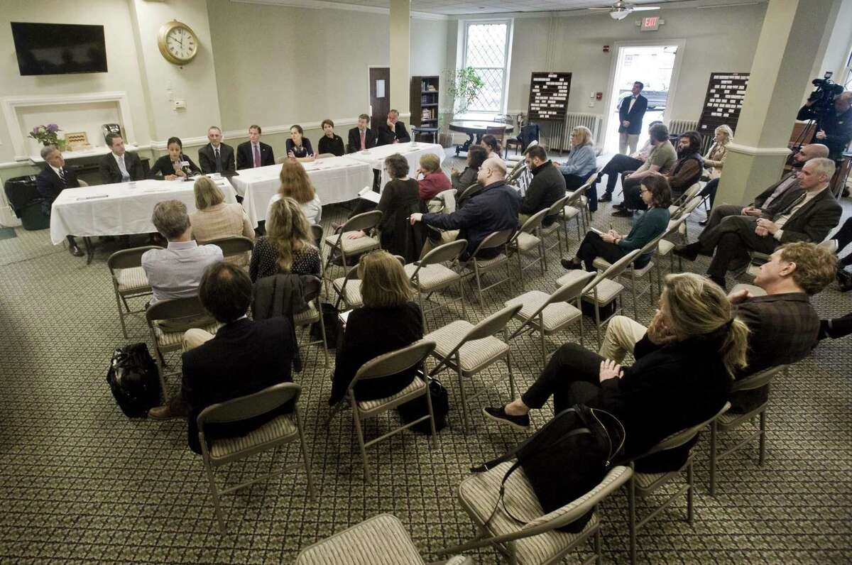 A discussion on the opioid crisis held at the Second Congregational Church in Greenwich. Friday, April 26, 2019