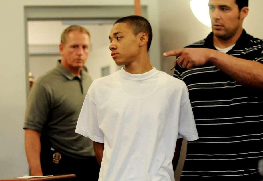 Kemo Santana, 18, enters Troy City Court for his arraignment Tuesday. (Cindy Schultz / Times Union) Photo: CINDY SCHULTZ