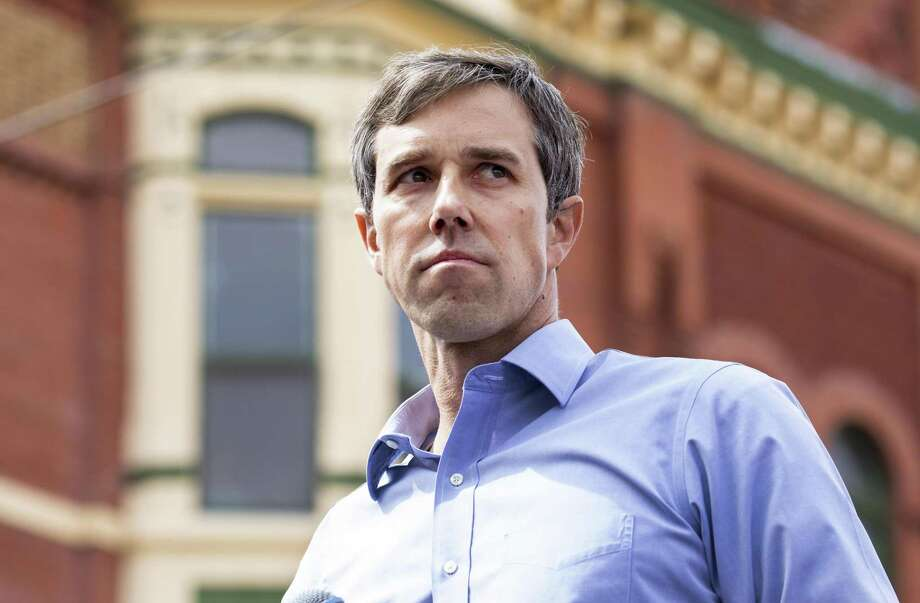 FILE -- Beto O'Rourke holds a rally to officially kick off his presidential bid in El Paso, Texas, March 30, 2019. Timely help from O'Rourke's influential if not superrich family played a key role in his transformation from rootless former musician to start-up founder, civic leader and candidate. (Ruth Fremson/The New York Times) Photo: RUTH FREMSON, STF / NYT / NYTNS