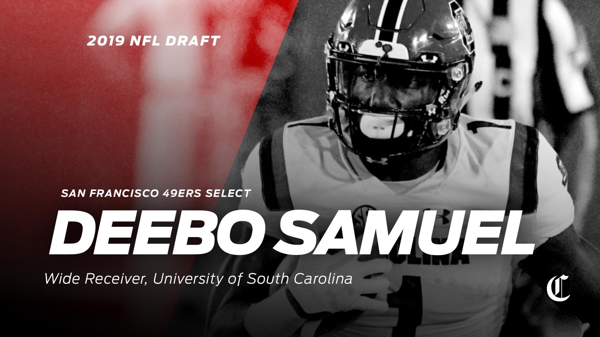 5075c0806 49ers  second-round pick  South Carolina WR Deebo Samuel ...