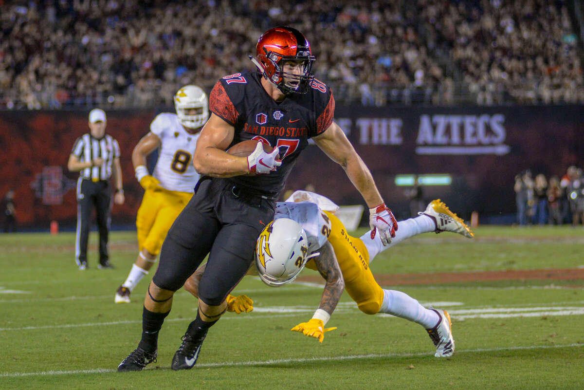 The third-round selection of San Diego State tight end Kahale Warring undoubtedly surprised many Texans fans given the glut of players the team already has at the position.