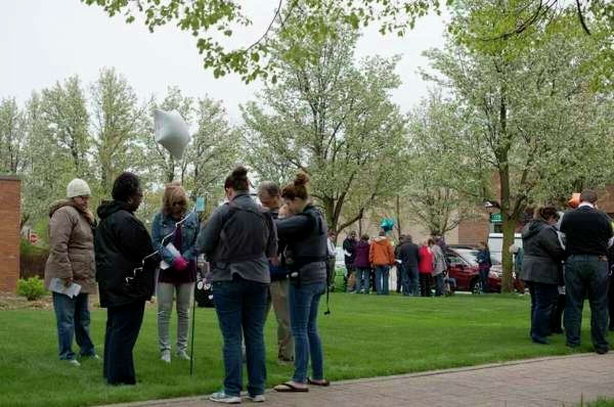 Members of the community gather in 2017 on the front lawn of First United Methodist Church to participate in the National Day of Prayer. (Daily News file photo)
