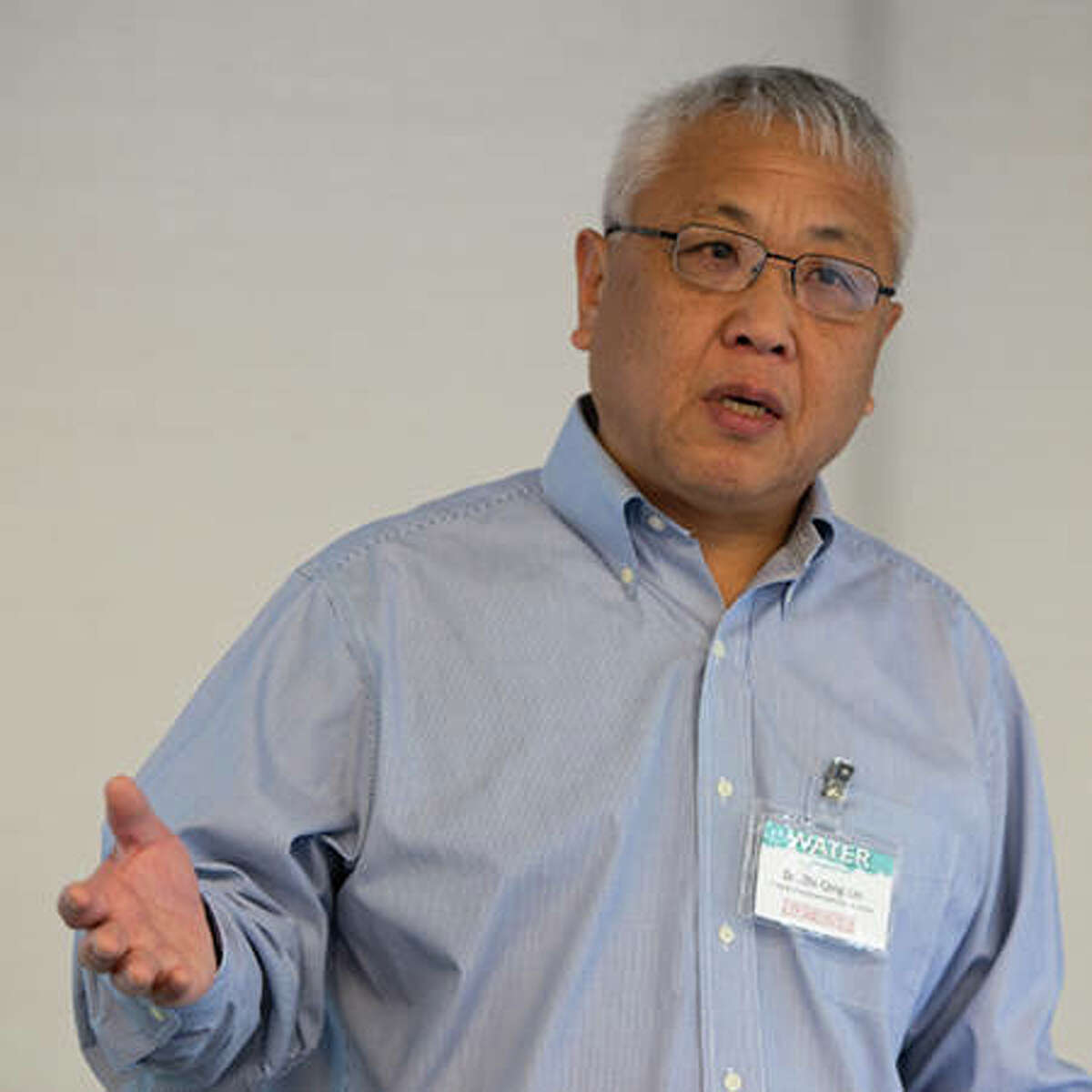 Zhi-Qing Lin, PhD, professor in SIUE's Department of Environmental Sciences, was one of several featured speakers at SIUE's inaugural Water Symposium.
