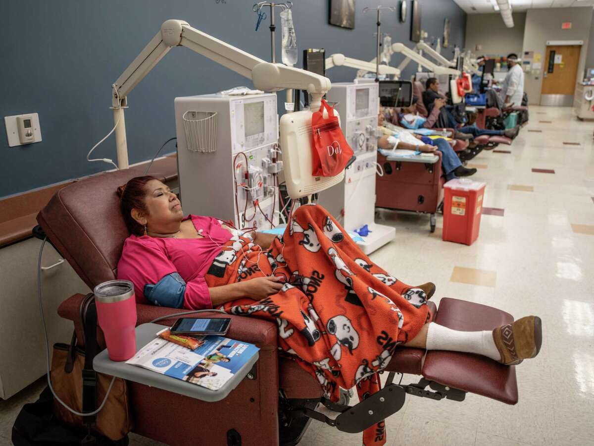 Pat Hernandez was diagnosed with kidney disease in 2013. She undergoes dialysis three times a week at DaVita Northwest Medical Center Dialysis in San Antonio.