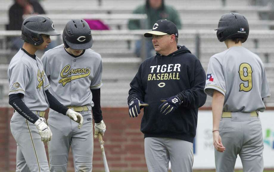 FILE PHOTO — Conroe head coach Jeff Raymer talks with players in the second inning of a high school baseball game during the Ferrell Classic, Thursday, Feb. 28, 2019, in Conroe. Photo: Jason Fochtman, Houston Chronicle / Staff Photographer / © 2019 Houston Chronicle