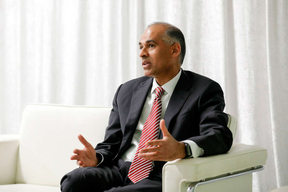 LyondellBasell CEO Bob Patel in an April 16, 2019 interview. The company said it has ended discussions to buy the Brazilian petrochemical company Braskem. Photo: Tim Warner / Contributor / Houston Chronicle