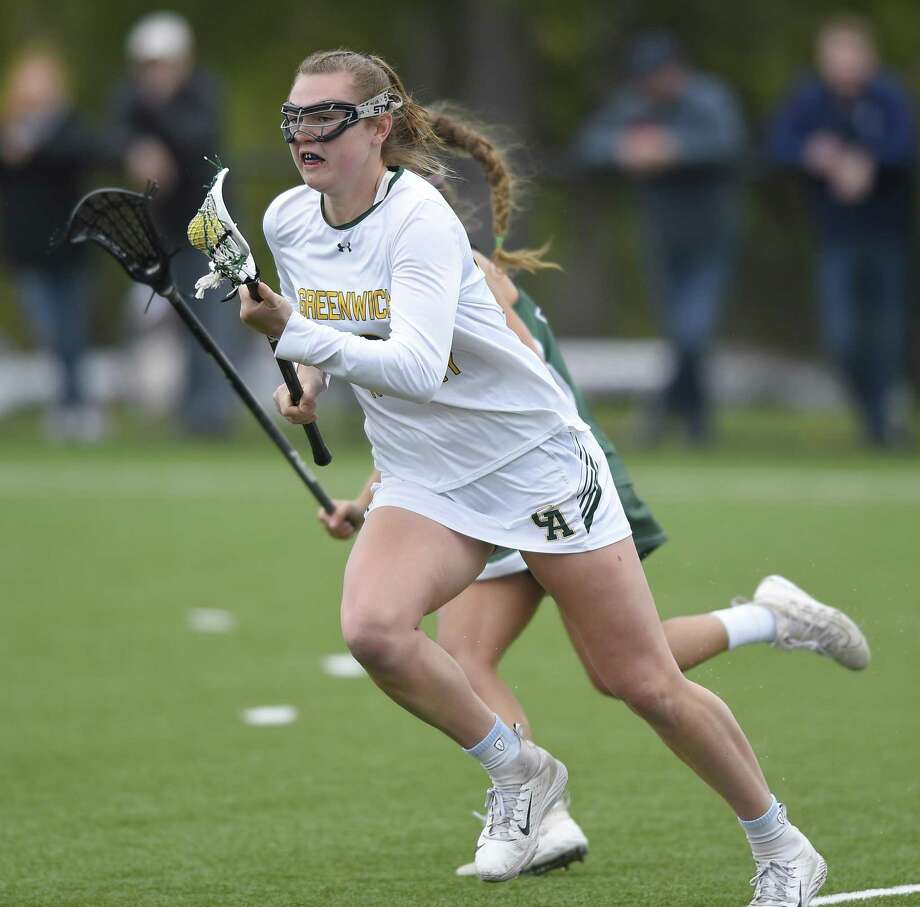 Greenwich Academy's Eliza Bowman had 52 goals and 15 assists to pace the Gators this season. Photo: Matthew Brown / Hearst Connecticut Media / Stamford Advocate