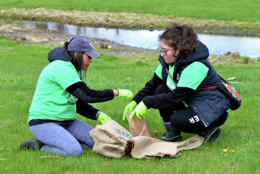 The nonprofit organization Clean Our Lands held a clean-up event at Seaside Park in Bridgeport, Conn., on Saturday Apr. 27, 2019. Over 100 people signed up to help clean the beaches and park grounds.