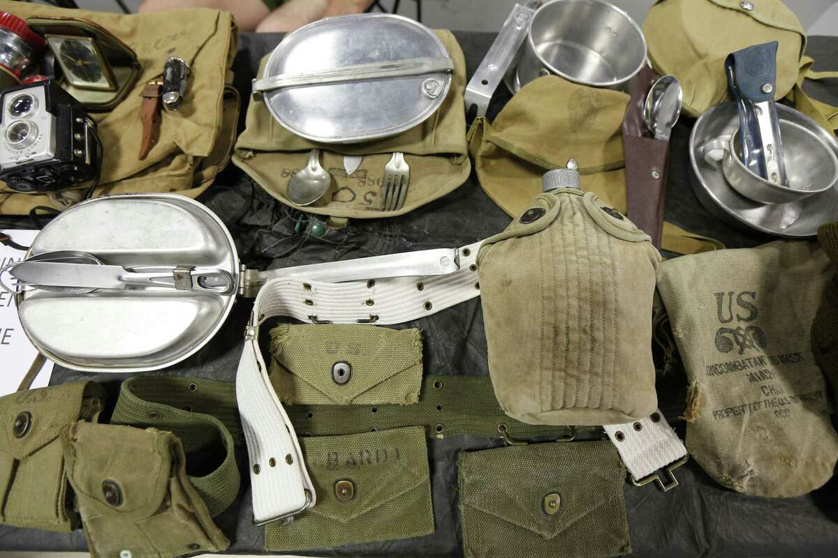Gear and clothing from 1940-1960 on display during the Scout-O-Rama celebrating the 100th anniversary of the Boy Scouts of America Bay Area Council Saturday, April 27, 2019, in Angleton.