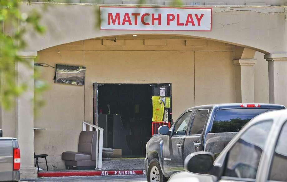 """Una serie de negocios de los denominados """"maquinitas"""" fueron cateados en abril de 2018. En la fotografía aparece el exterior del establecimiento Lucky KOI Amusement Center, ubicado en 9110 McPherson Road. Photo: Danny Zaragoza /Laredo Morning Times / Laredo Morning Times"""
