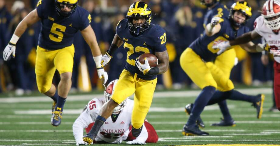 PHOTOS: Introducing Tytus Howard Michigan Wolverines running back Karan Higdon (22) runs with the ball during a game between the Indiana Hoosiers and the Michigan Wolverines (4) on November 17, 2018 at Michigan Stadium in Ann Arbor, Michigan. (Photo by Scott W. Grau/Icon Sportswire via Getty Images Browse through the photos to see the Texans introducing first-round pick Tytus Howard. Photo: Icon Sportswire/Icon Sportswire Via Getty Images