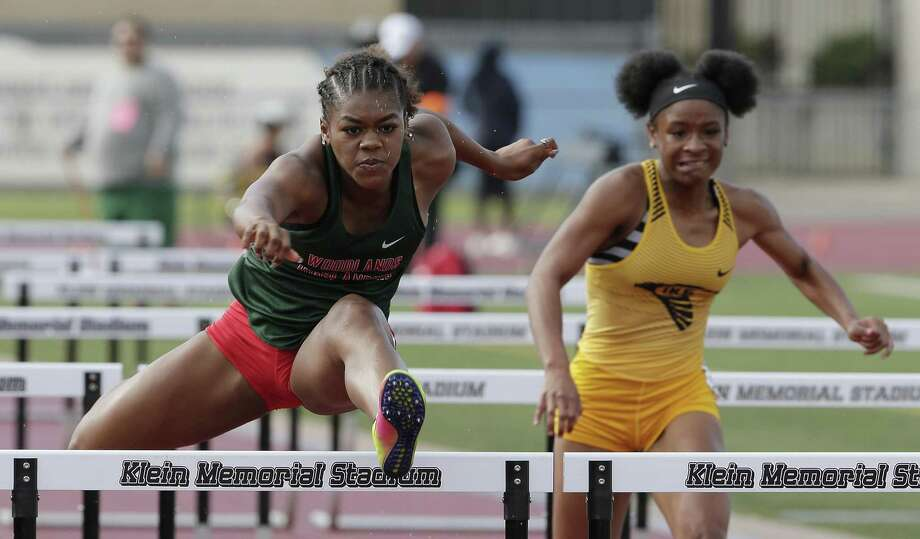 The Woodlands' Alexandria Webster won the 100- and 300-meter hurdles at the Region II-6A championships in Waco over the weekend. Photo: Michael Wyke, Houston Chronicle / Contributor / © 2019 Houston Chronicle