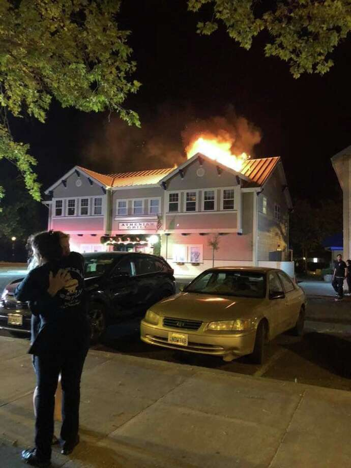 A fire broke out at Suisun's Athenian Grill on April 27, 2019. Photo: Suisun City Fire Department