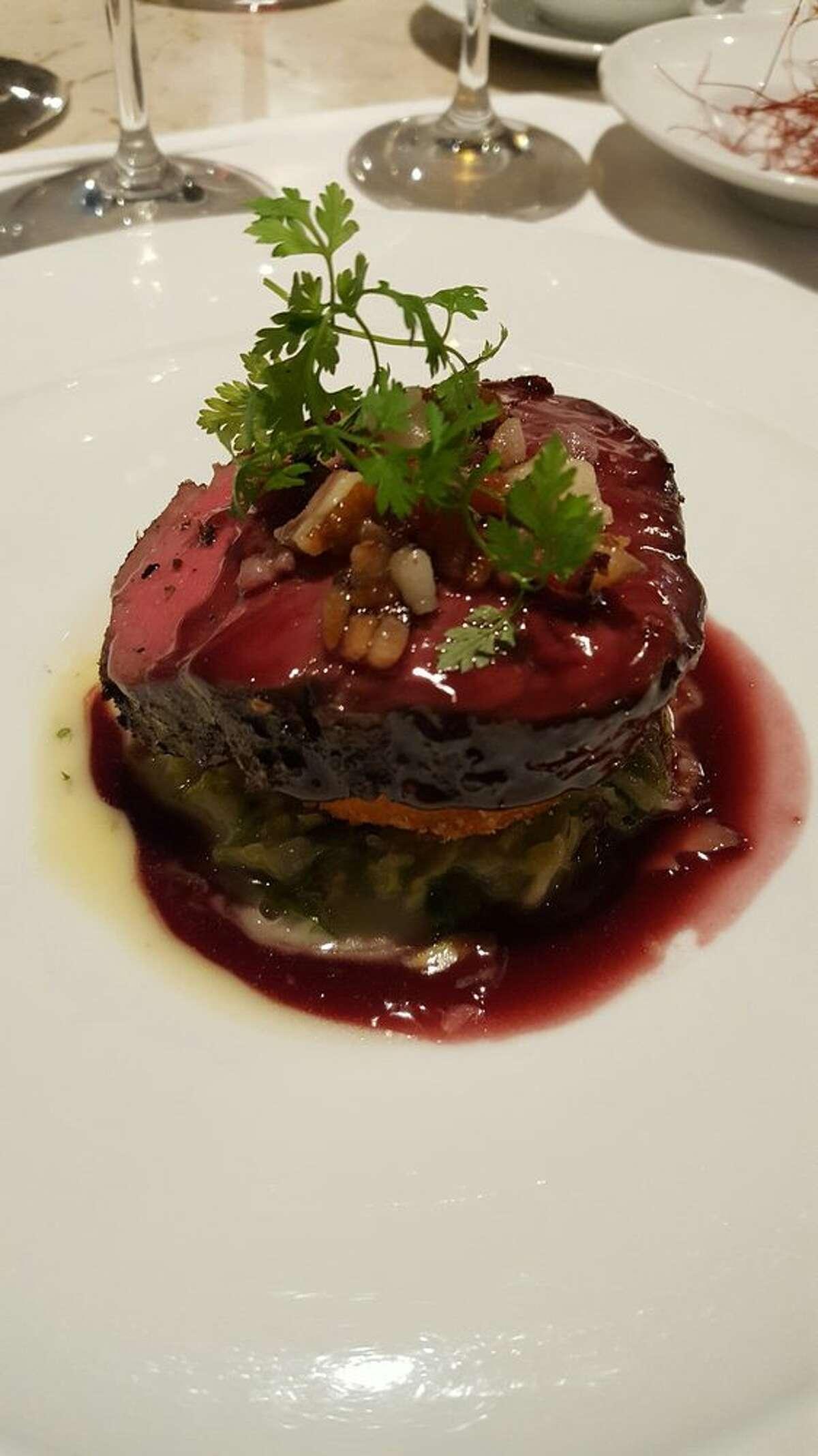 Beef tenderloin at The Kitchen Restaurant in Sacramento.
