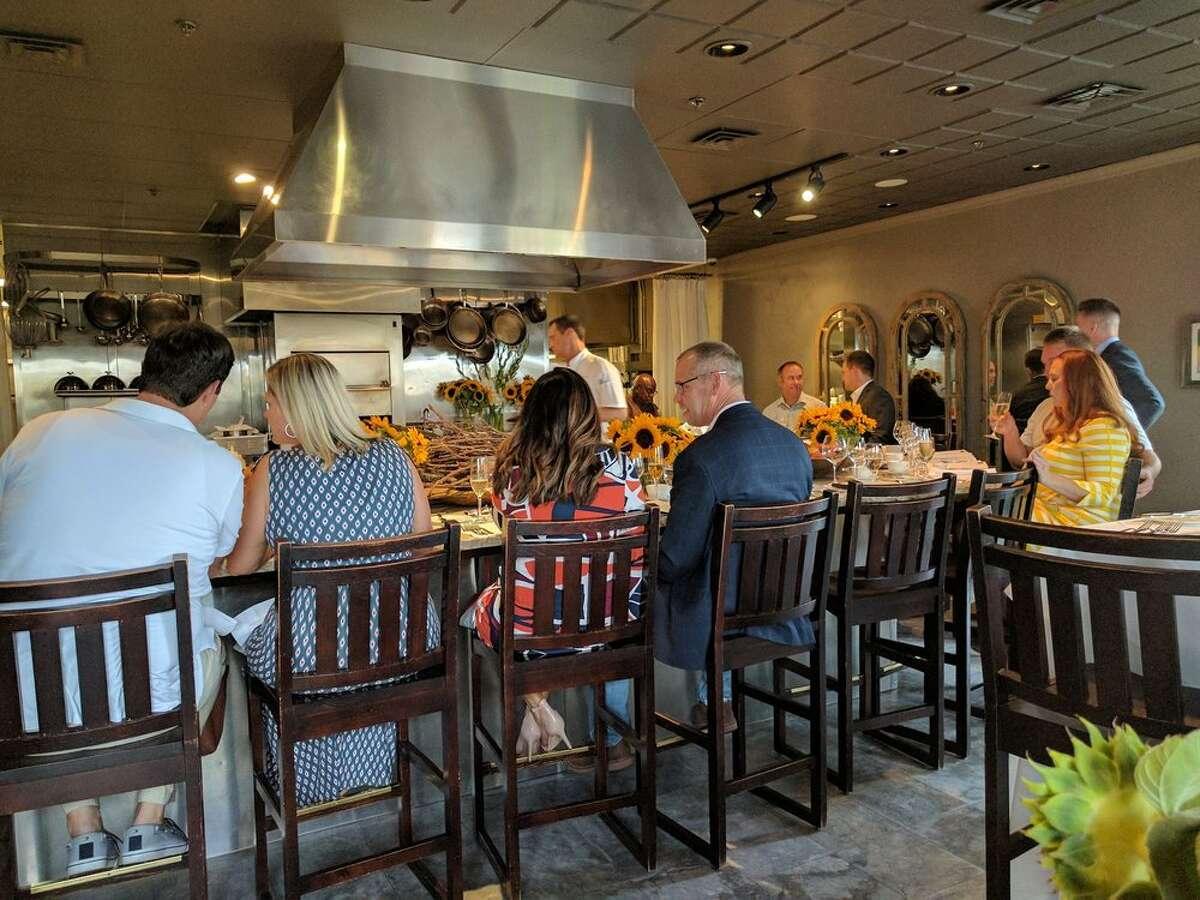 The interior of The Kitchen Restaurant in Sacramento.