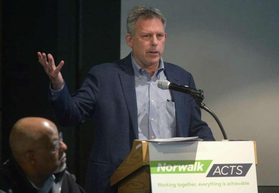 Norwalk ACTS Executive Director Anthony Allison. Photo: Erik Trautmann / Hearst Connecticut Media / Connecticut Post