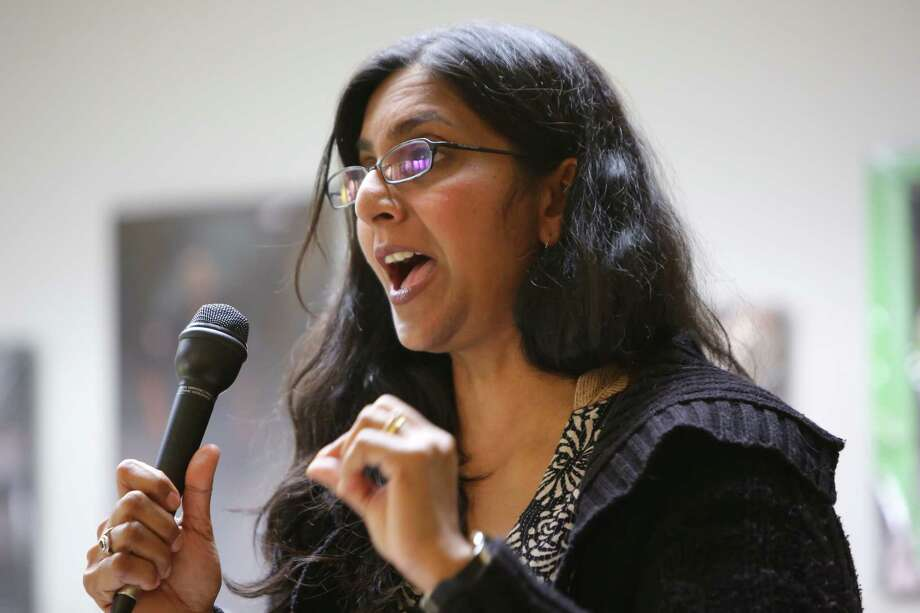 "District 3 incumbent Kshama Sawant:  ""We need to build a fighting movement and the labor movement must lead the struggle."" Photo: Genna Martin, SEATTLEPI / GENNA MARTIN"