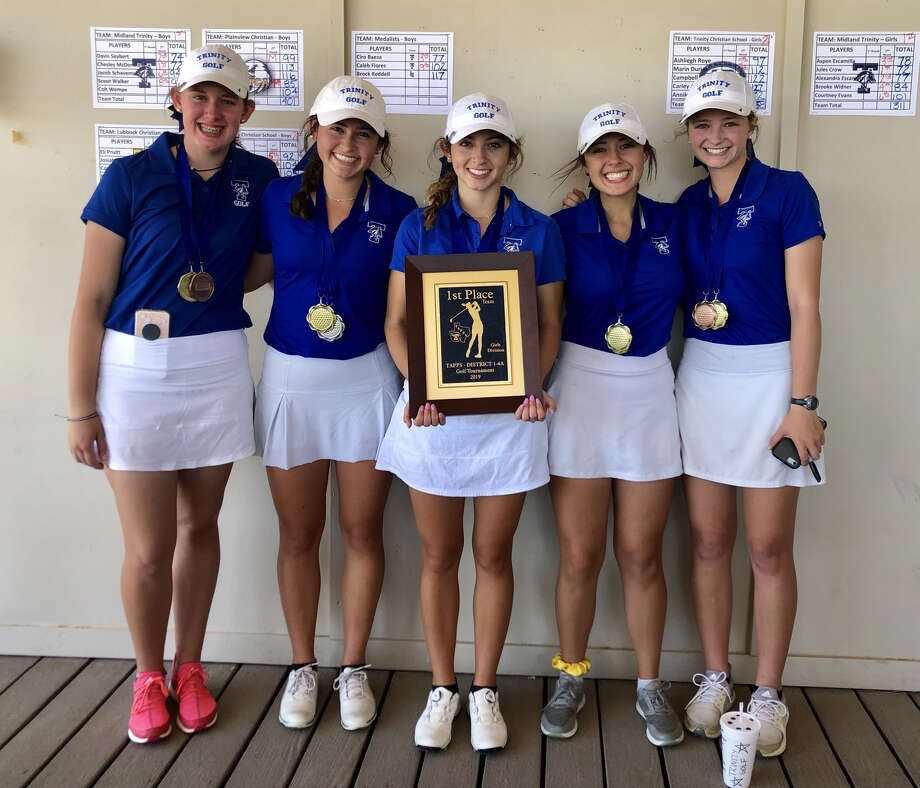 The Trinity girls golf team pose after winning the TAPPS 1-4A Tournament at Green Tree Country Club earlier this month. Photo: Courtesy Photo