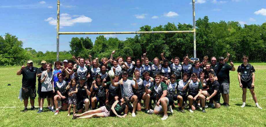 The Woodlands Youth Rugby high school team won the Rugby Texas Division I state championship over St. Pius X on Sunday, April 28, 2019 in Austin. Photo: Photo Provided