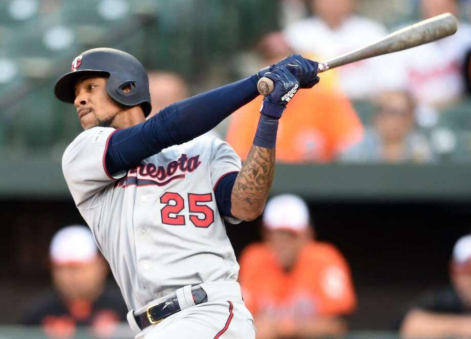 Twins center fielder Byron Buxton has had a knack for getting himself to second base this season. He's second in the majors with 12 doubles and has six stolen bases in seven attempts. Photo: Mitchell Layton, Stringer / Getty Images / 2019 Getty Images
