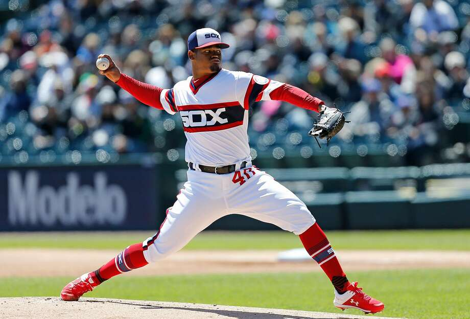 White Sox right-hander Reynaldo Lopez struck out 14 in six innings against the Tigers on Sunday. Photo: Nuccio DiNuzzo / Getty Images