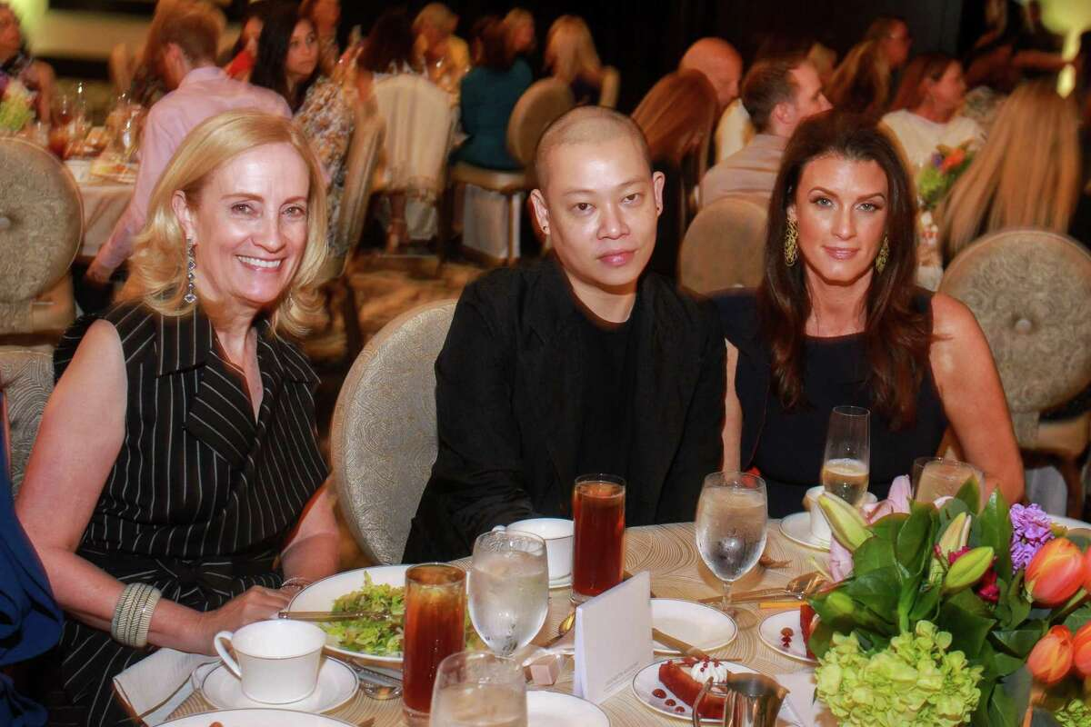Diana Hawkins, from left, fashion designer Jason Wu, and Jordan Seff at the Children's Assessment Center's 20th Annual Spirit of Spring Luncheon & Fashion Show.