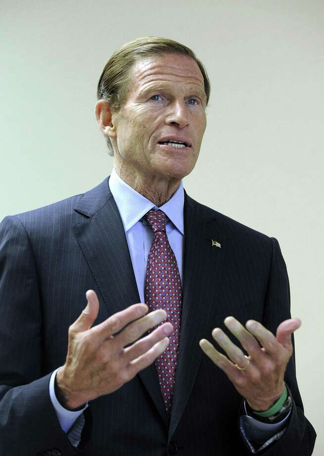 U.S. Sen. Richard Blumenthal is a supporter of Medicare for all legislation, which could negatively affect the state's insurance industry. Photo: Hearst Connecticut Media File Photo / The News-Times