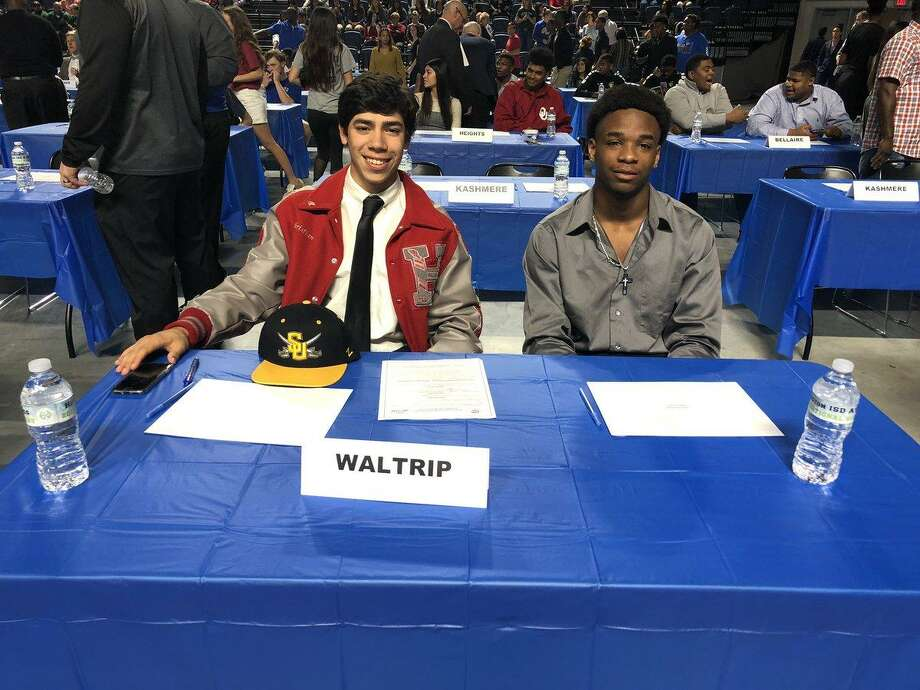 Waltrip senior Christian Rodriguez, who signed to attend and play golf for Southwestern University earlier this year, advanced to his first UIL state tournament with a third-place finish at the Region III-5A championships. Photo: Houston ISD Athletics / Houston ISD Athletics