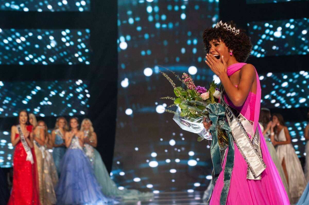 Kaleigh Garris, 18 of Milford, is crowned 2019 Miss Teen USA in Reno, Nevada on April 28.