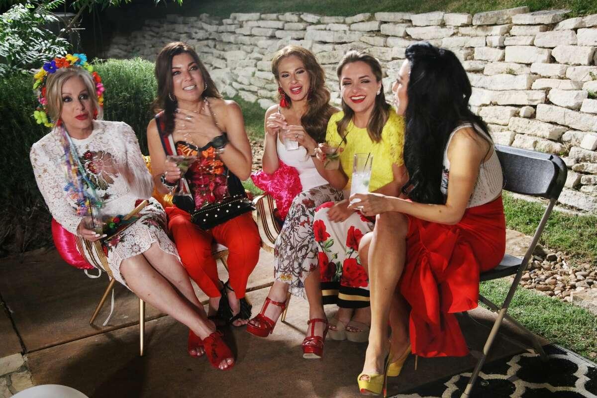 "TEXICANAS: ""Chapter 1 - Two Months Earlier"" Episode 101 -- Pictured: (l-r) Luz Ortiz, Penny Ayarzagoitia, Lorena Martinez, Karla Ramirez."