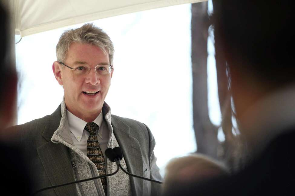 Dr. David Quinn, orthopedic surgeon with The Bone & Joint Center, speaks during a ground break for a new medical complex with Albany Med and The Bone and Joint Center on Monday, April 29, 2019, on Route 146 in Clifton Park, N.Y. The 14,400 square-foot medical complex will house an Albany Med EMUrgent Care facility as well as orthopedic satellite offices from The Bone & Joint Center. The facility is expected to open in October. (Will Waldron/Times Union)