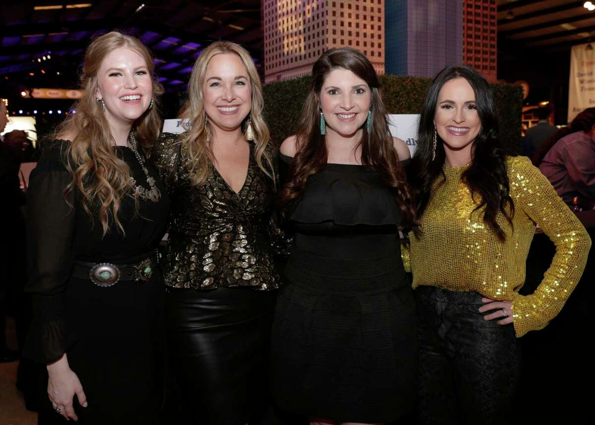 Kelsey Wright, Elaine Balagia Croucher, Ashley Plaeger and Darci Vazquez at this year's Cattle Barron's Ball held at the George Ranch Historical Park Saturday, Apr. 27, 2019 in Richmond, TX.