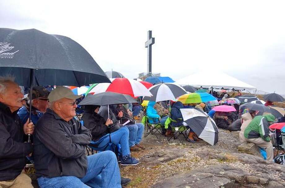 Hundreds came from across the state on Sunday to Holy Land USA to honor the life and legacy of Waterbury native Venerable Father Michael McGivney, founder of the Knights of Columbus Photo: Contributed