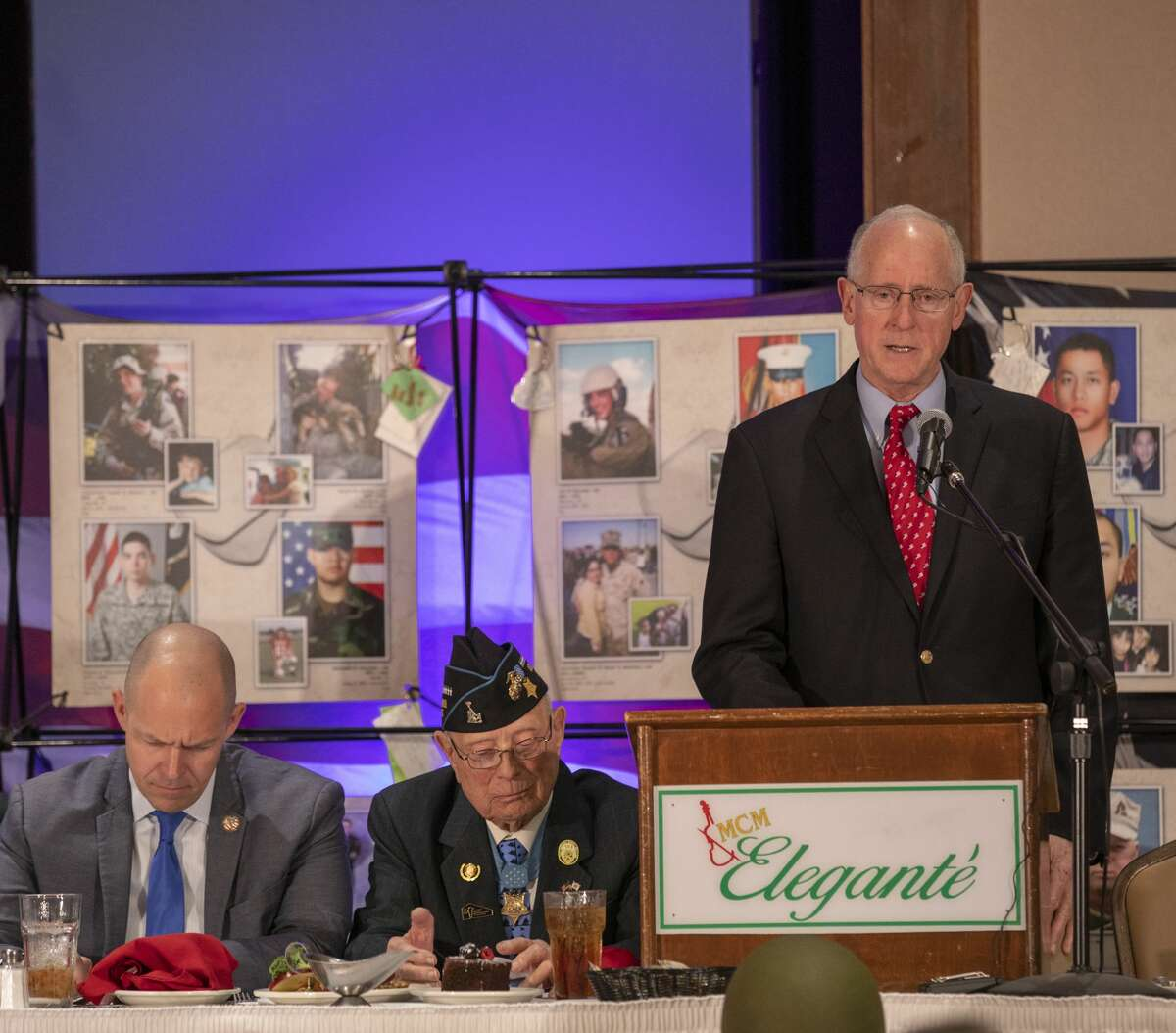 U.S. Rep. Mike Conaway speaks on Thursday during the Stand in Honor dinner at the MCM Elegante.