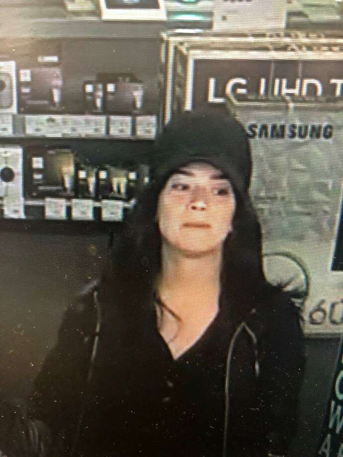 North Haven police are looking to identify these two women. They allegedly purchased two drones using a stolen debit card in March. Photo: North Haven Police Department