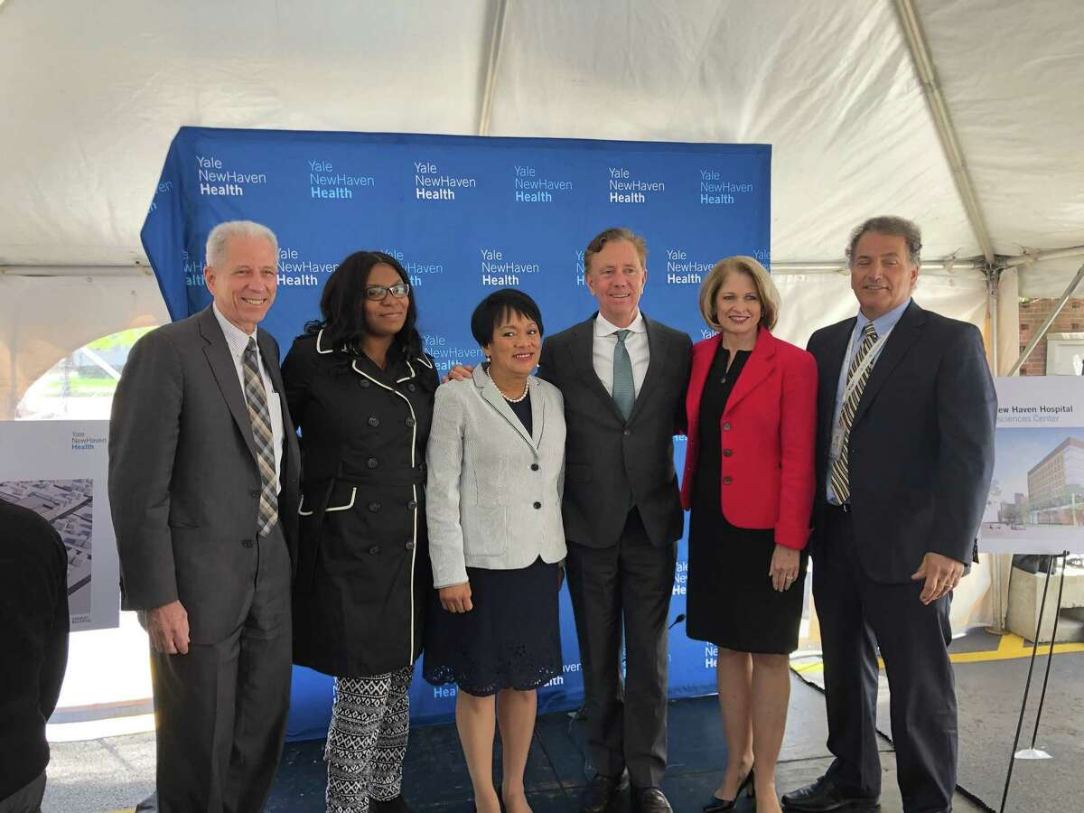 Yale New Haven Health and Yale New Haven Hospital at a news conference April 29, 2019.