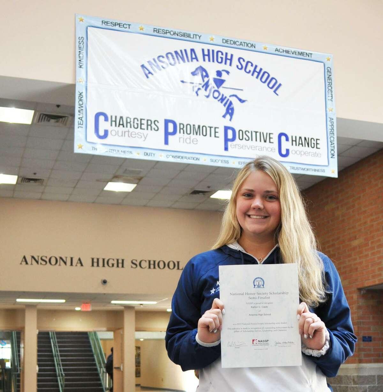 Kaitlyn Caple of Ansonia High School