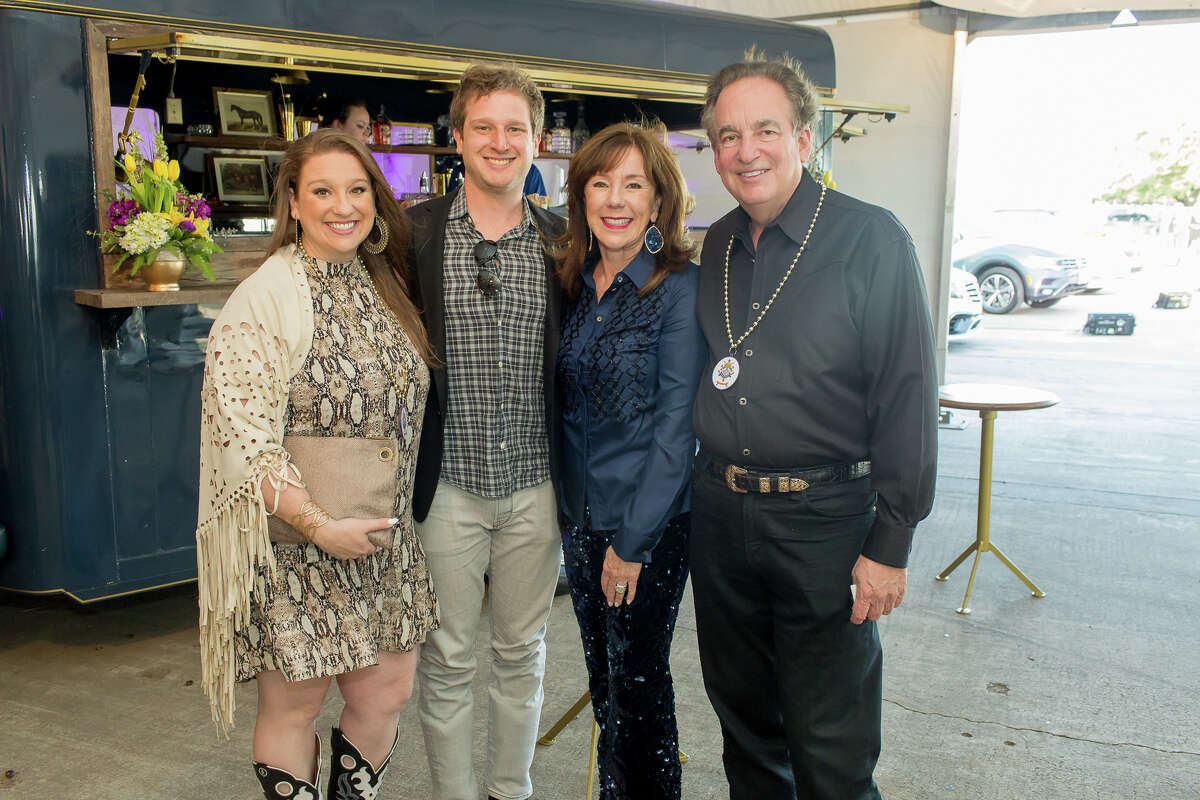 Laura Stein and Jacob Stein with Elizabeth and Alan Stein