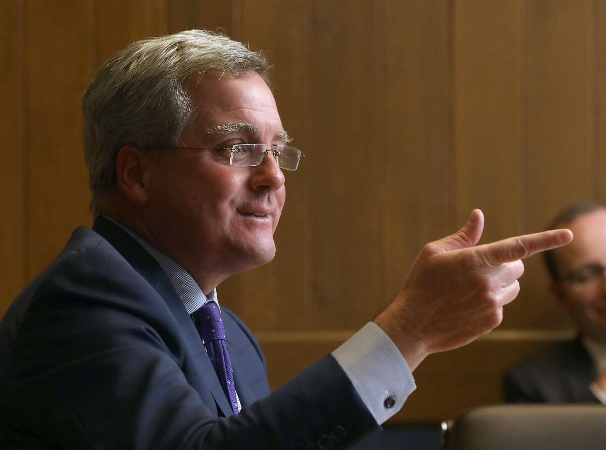 San Francisco city attorney Dennis Herrera meets with the SF Chronicle editorial board to discuss his proposal to ban the sale of e-cigarettes in San Francisco on Thursday, April 4, 2019, in San Francisco, Calif.