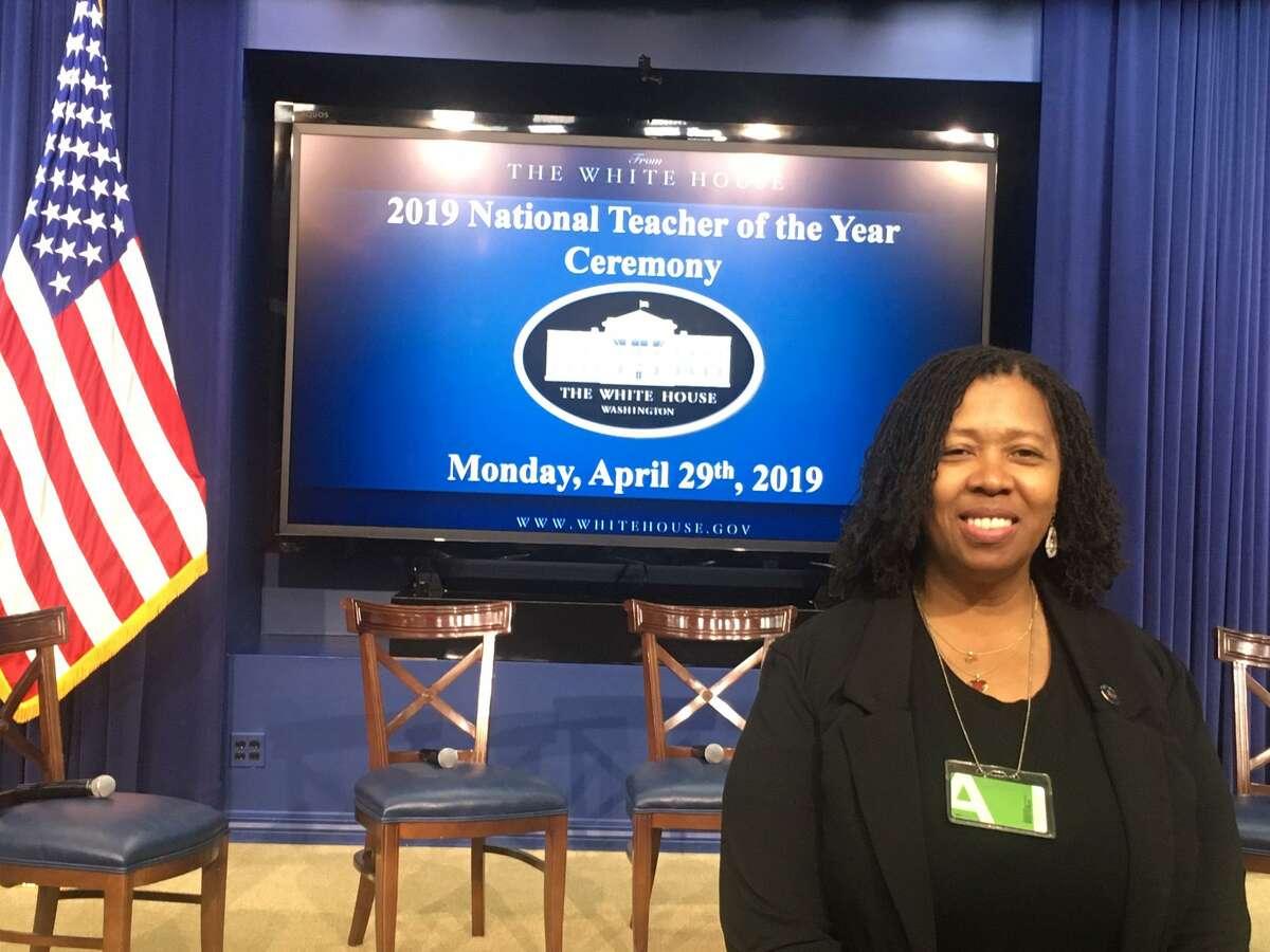 Harding High Teacher Sheena Graham at the National Teacher of the Year ceremony. April 29, 2019