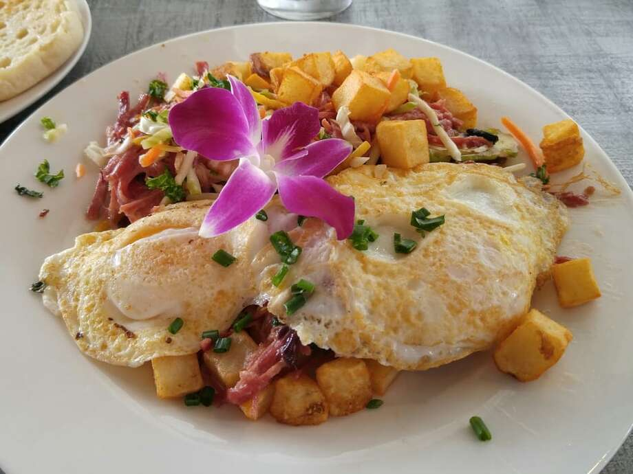 The corned beef hash served at BarnBurner in Rocklin, Calif.