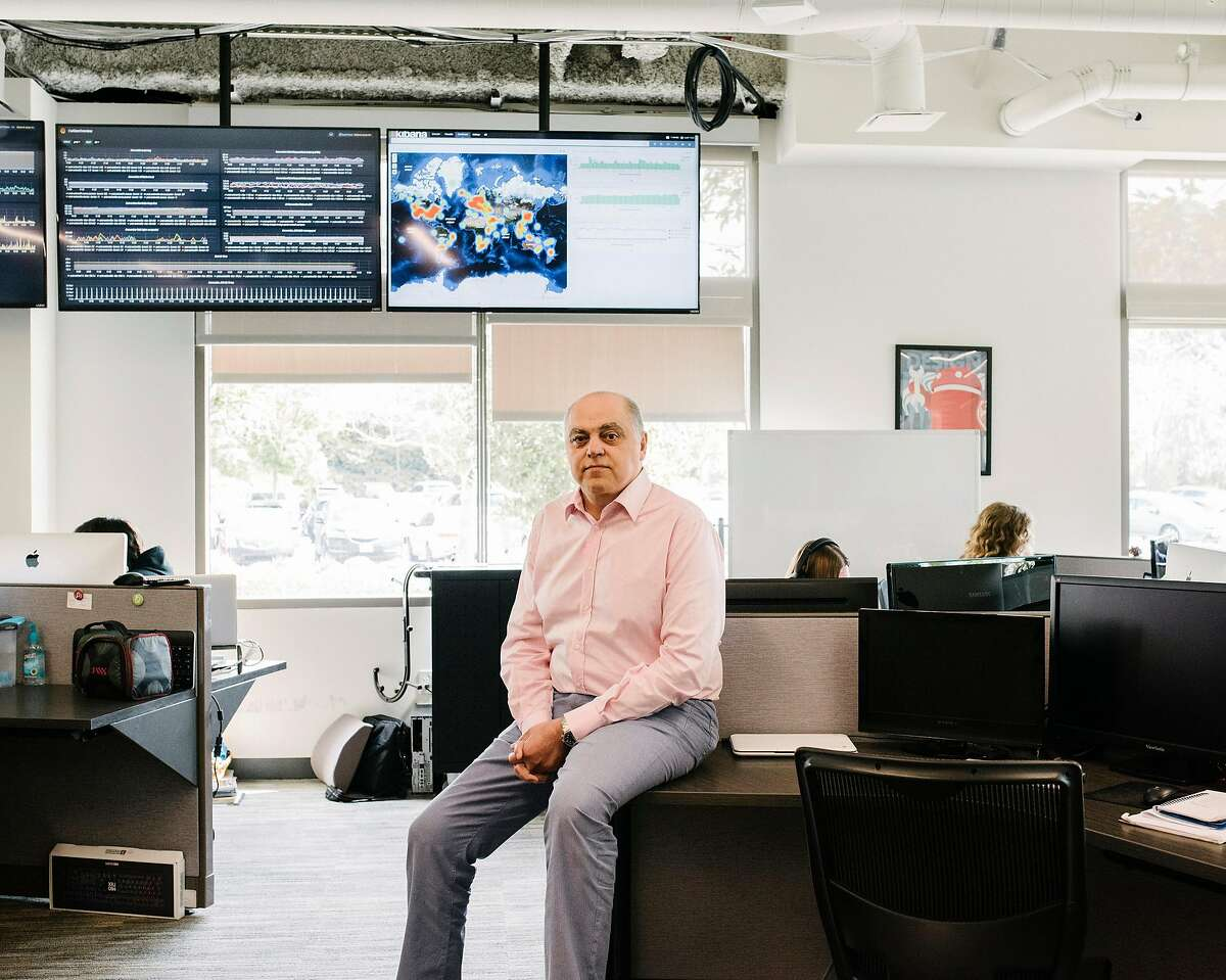 Amir Moussavian, chief executive of OurPact, a popular parental-control iPhone app, at his company's headquarters in San Diego, March 14, 2019. Last year, with much fanfare, Apple unveiled a screen-time tracker of its own. Then it quietly began purging competitors from its store. Moussavian said Apple had yanked his company's app from the App Store, crippling the business. (John Francis Peters/The New York Times)